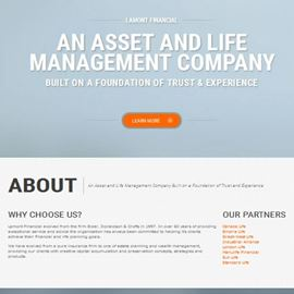 image of lamont wealth website