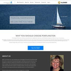 image of portlington finacial website