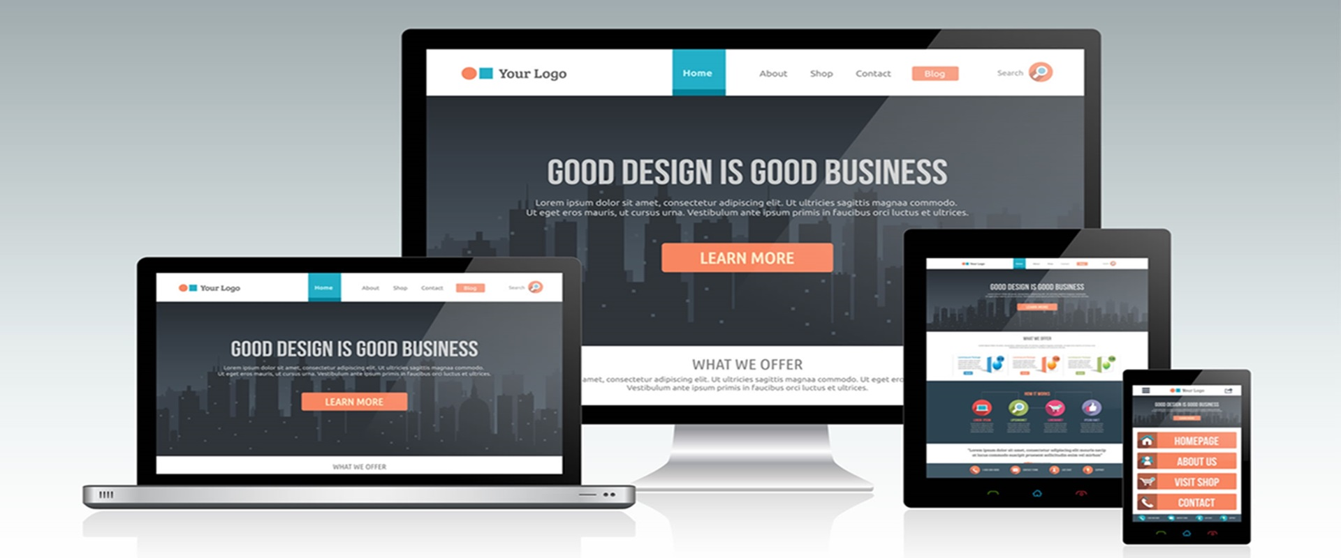 responsive web design - one site all screens