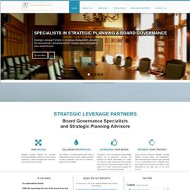 image of strategic leverage partners website